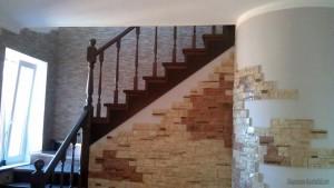 Санузел под лестницей