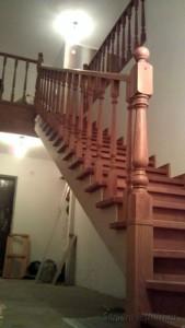 Отделка косоура лестницы гипсокартоном